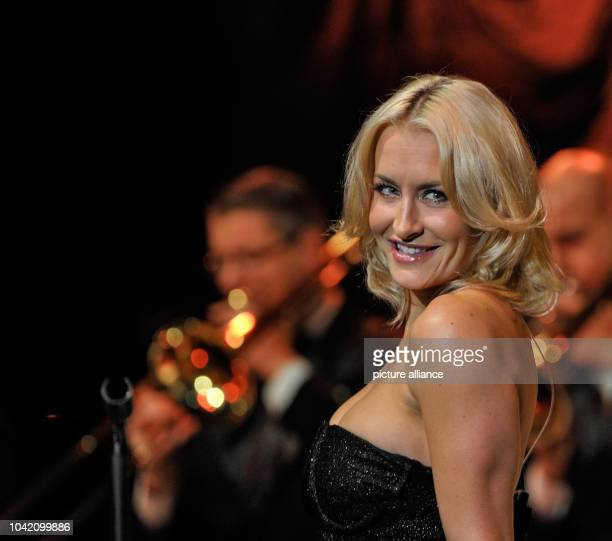 Sarah Connor performs with Andrej Hermlin and his Swing Dance Orchestra at Admiralspalast in BerlinGermany 29 November 2013 Photo Roland Popp...