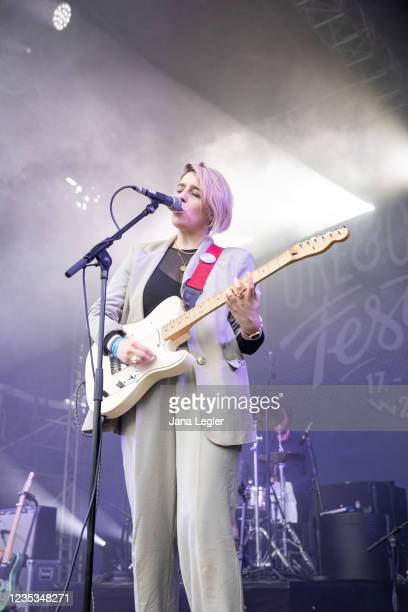 September 18: Sarah Corcoran of Pillow Queens performs live on stage during day 2 of Pure & Crafted Festival in Berlin on September 18, 2021 in...