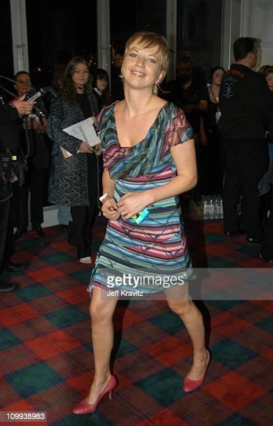 Sarah Cox during MTV Europe Music Awards 2003 Arrivals at Ocean Terminal Arena in Edinburgh Scotland