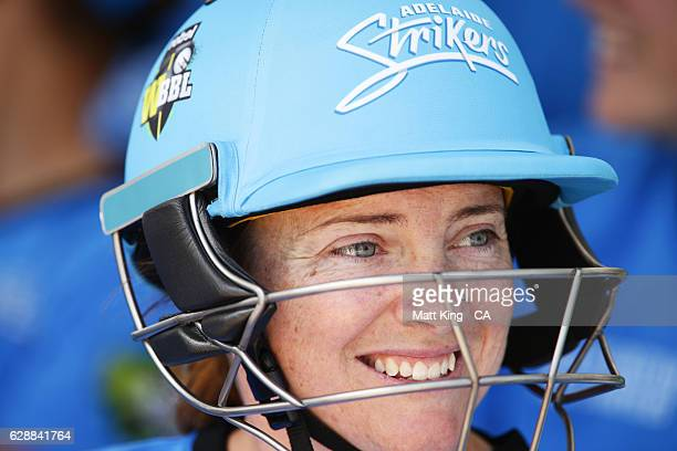 'SYDNEY AUSTRALIA DECEMBER 10 Sarah Coyte of the Strikers prepares to bat during the Women's Big Bash League match between the Adelaide Strikers and...