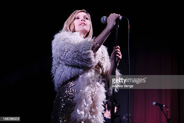 Sarah Cracknell of Saint Etienne performs at HMV Ritz on December 12, 2012 in Manchester, England.