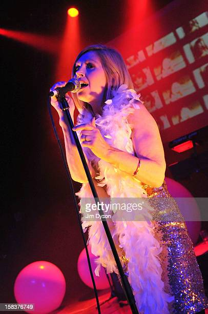 Sarah Cracknell of Saint Etienne performs live on stage at O2 Shepherd's Bush Empire on December 14 2012 in London England