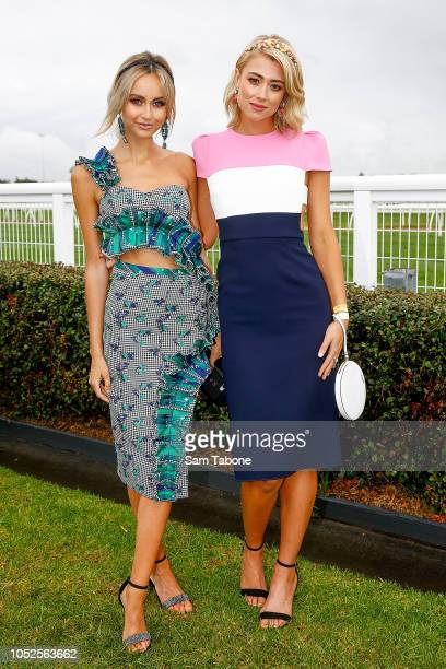 Sarah Czarnuch and Tess Shanahan attends 2018 Caulfield Cup Day at Caulfield Racecourse on October 20 2018 in Melbourne Australia