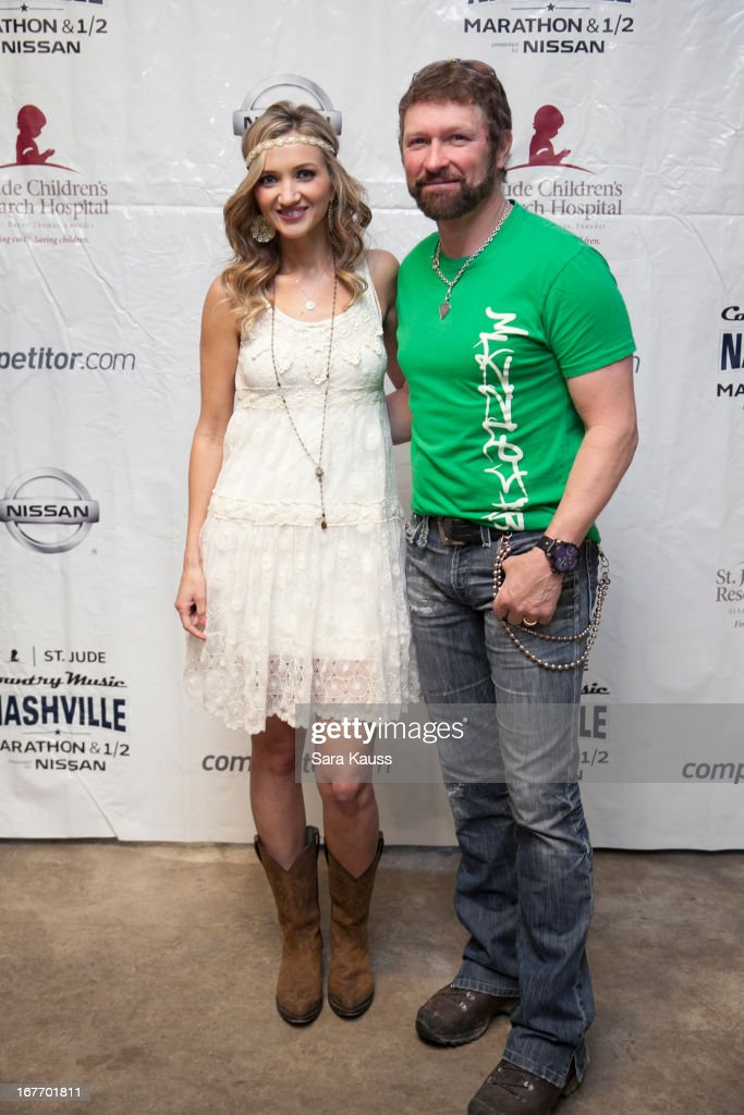 Sarah Darling and Craig Morgan (R) attend the St Jude Country Music Marathon and Half Marathon Post Race Concert presented by Nissan on April 27, 2013 in Nashville, Tennessee.