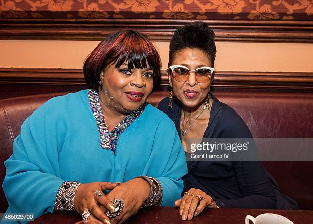 Sarah Dash and Nona Hendryx attend the Sarah Dash birthday celebration at 54 Below on August 23 2015 in New York City