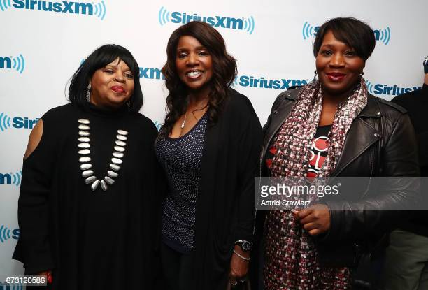Sarah Dash Gloria Gaynor and Bevy Smith attend SiriusXM Town Hall taping on Studio 54 Radio celebrating the 40th anniversary of Studio 54 at the...