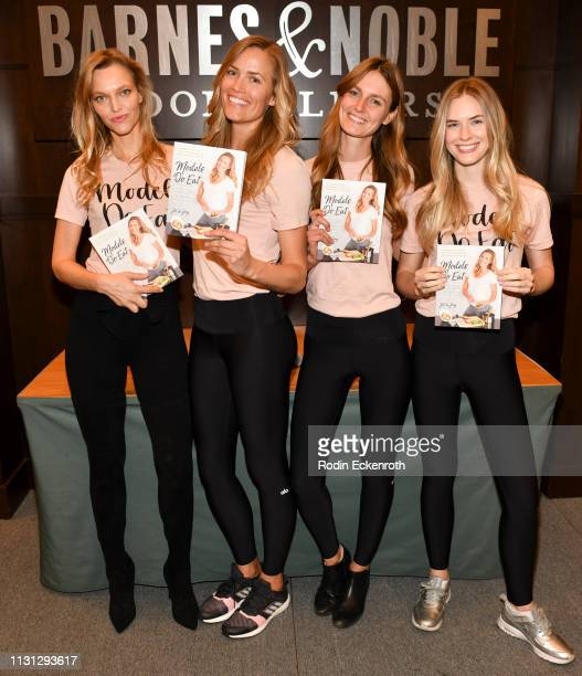 Sarah DeAnna Colleen Baxter Jill de Jong and Courtney James celebrate 'Models Do Eat' at Barnes Noble at The Grove on February 21 2019 in Los Angeles...