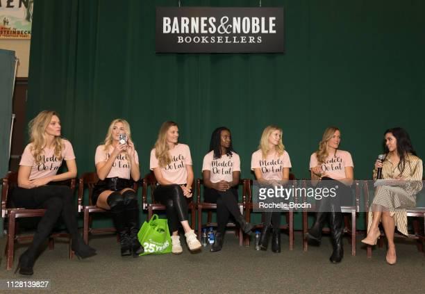 Sarah Deanna Liana WernerGray Adela Capova Lauren Williams Nikki Sharp Jill de Jong and Asia Celestino attend the 'Models Do Eat' book signing at...