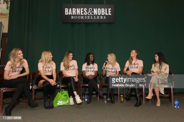 Sarah Deanna Liana WernerGray Adela Capova Lauren Williams Nikki Sharp Jill de Jong and Azia Celestino attend the Models Do Eat book signing at...