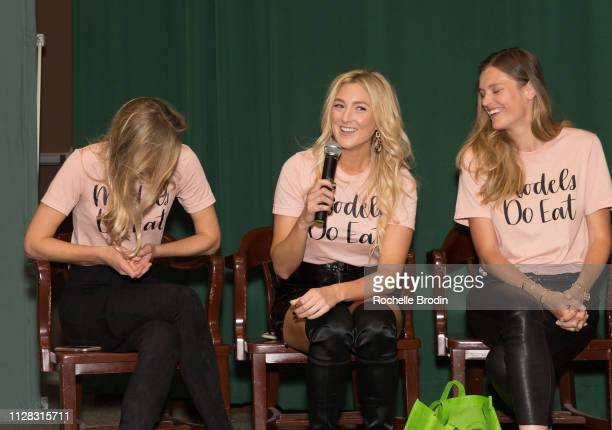 Sarah Deanna Liana WernerGray and Adela Capova attend the Models Do Eat book signing at Barnes and Noble Tribeca on February 07 2019 in New York City