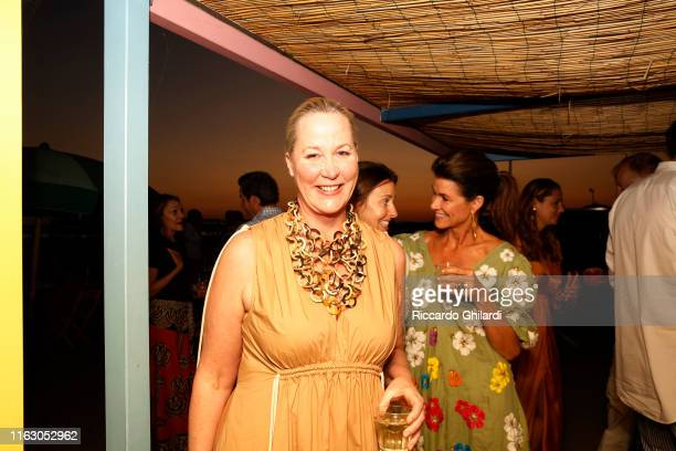 Sarah Dodd attends the welcome dinner celebrating the opening of Rachel Lee Hovnanian's museum show Open Secrets at Alle Boe Beach Club on July 19...