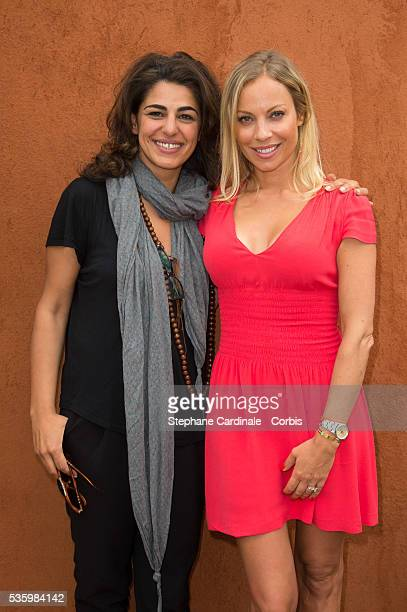 Sarah Doraghi and Charlotte Bouteloup attend the Roland Garros French Tennis Open 2014