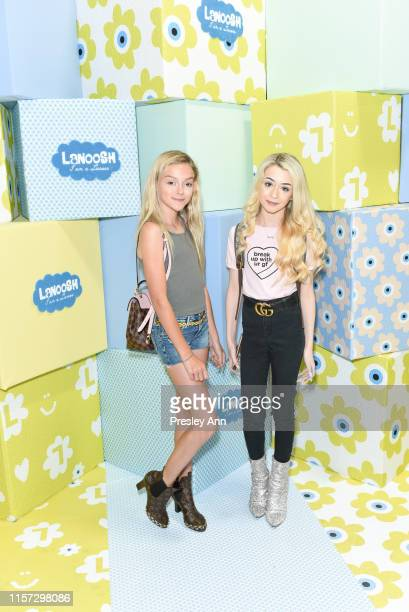 Sarah Dorothy Little and Emery Bingham attend LANOOSH grand opening event hosted by Disney star Ava Kolker at LANOOSH on June 20 2019 in Glendale...