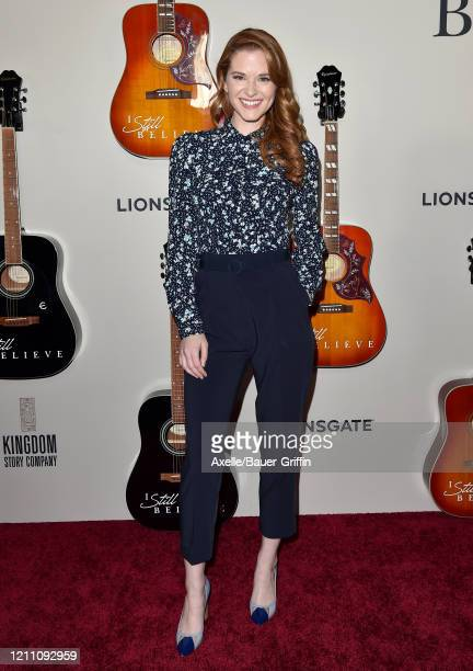 Sarah Drew attends the premiere of Lionsgate's I Still Believe at ArcLight Hollywood on March 07 2020 in Hollywood California