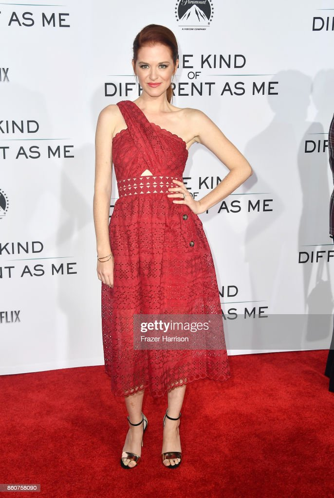 Sarah Drew attends the Premiere Of Paramount Pictures And Pure Flix Entertainment's 'Same Kind Of Different As Me' at Westwood Village Theatre on October 12, 2017 in Westwood, California.