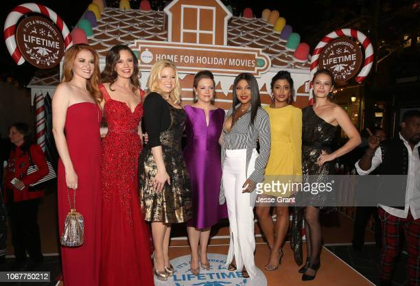 Sarah Drew, Rachel Boston, Megan Hilty, Melissa Joan Hart, Toni Braxton, Tiya Sircar and Bethany Joy Lenz attend the VIP opening night of the...