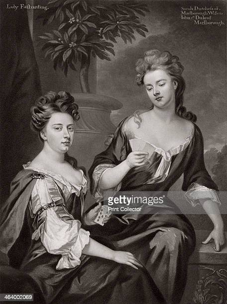 Sarah Duchess of Marlborough and Lady Fitzharding c1702 Barbara Lady Fitzharding was a close friend of the Duchess of Marlborough From the original...