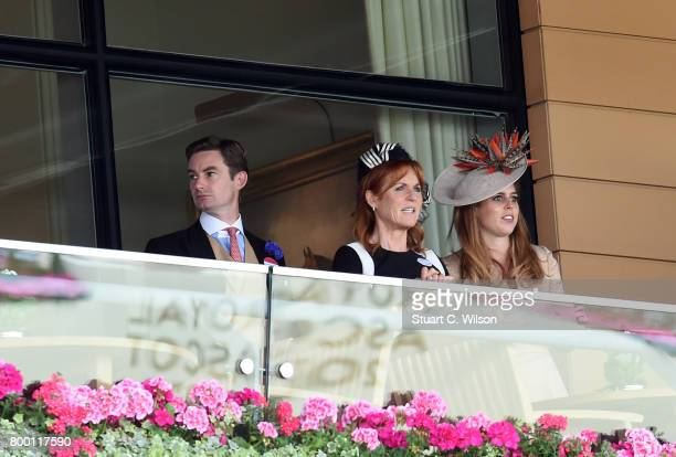 Sarah Duchess of York and Princess Beatrice attend Royal Ascot 2017 at Ascot Racecourse on June 23 2017 in Ascot England