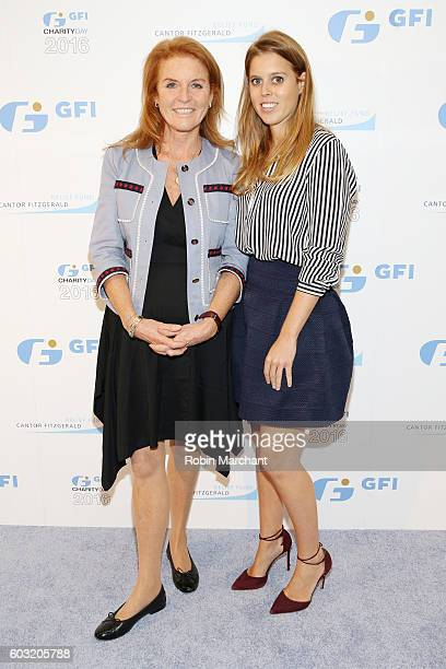Sarah Duchess of York and Princess Beatrice of York attend the Annual Charity Day hosted by Cantor Fitzgerald BGC and GFI at GFI Securities on...