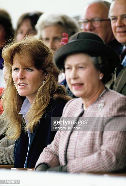 Sarah Duchess of York and Queen Elizabeth II in 1990 ca in London England