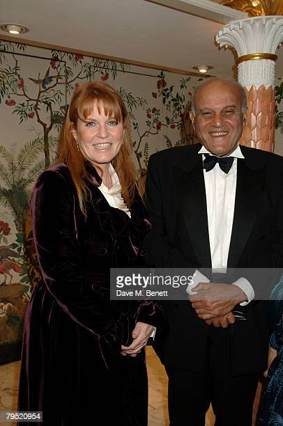Sarah Duchess of York and Sir Magdi Yacoub attend the Chain of Hope Annual Ball at the Dorchester Hotel on February 4 2008 in London England