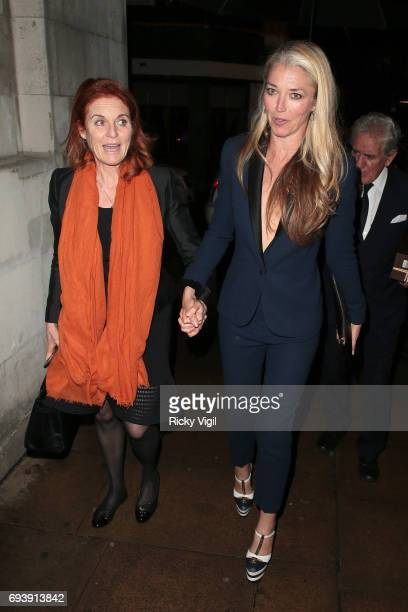 Sarah Duchess of York and Tamara Beckwith seen on a night out at Loulou's members club in Mayfair on June 8 2017 in London England