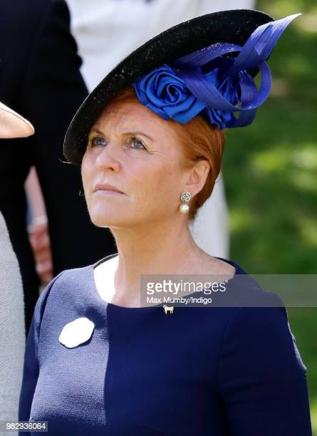 Sarah Duchess of York attends day 4 of Royal Ascot at Ascot Racecourse on June 22 2018 in Ascot England