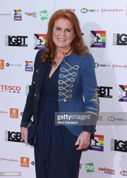 Sarah, Duchess of York attends the British LGBT Awards 2021 at The Brewery on August 27, 2021 in London, England.