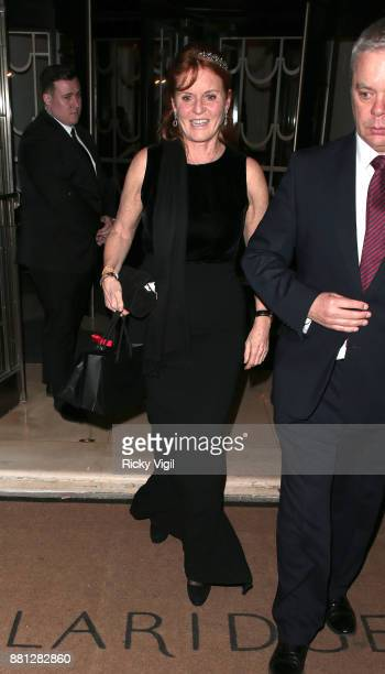 Sarah Duchess of York attends the Lady Garden Gala in aid of Silent No More Gynaecological Cancer Fund and Cancer Research UK at Claridge's Hotel on...