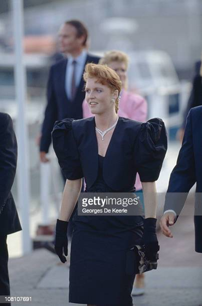 Sarah Duchess of York during a visit to Canada 18th July 1987
