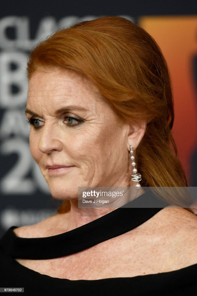 Sarah, Duchess of York poses in the winners room during the 2018 Classic BRIT Awards held at Royal Albert Hall on June 13, 2018 in London, England.
