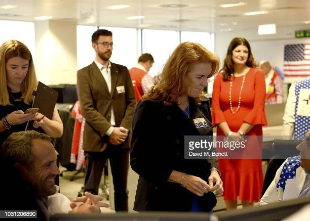 Sarah Duchess of York representing Street Child charity attends BGC Charity Day at One Churchill Place on September 11 2018 in London England