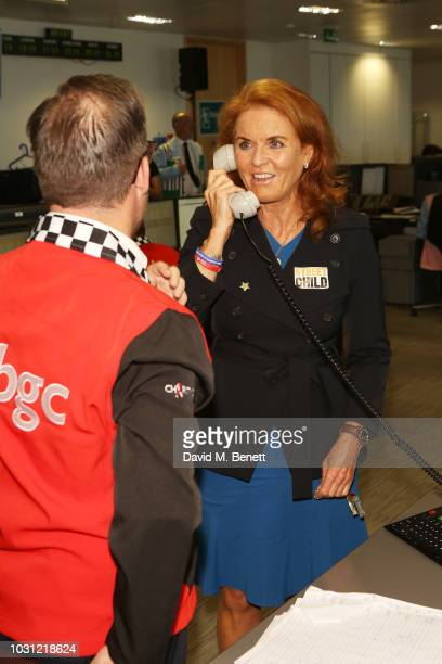 Sarah Duchess of York representing Street Child makes a trade BGC Charity Day at One Churchill Place on September 11 2018 in London England