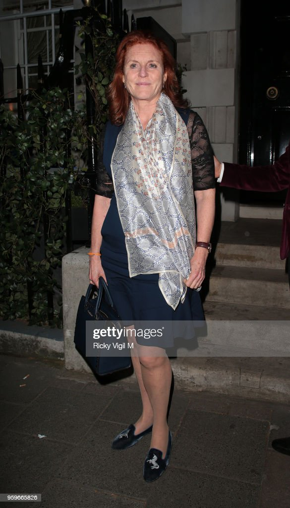 Sarah, Duchess of York seen on a night out at Annabel's club in Mayfair on May 17, 2018 in London, England.