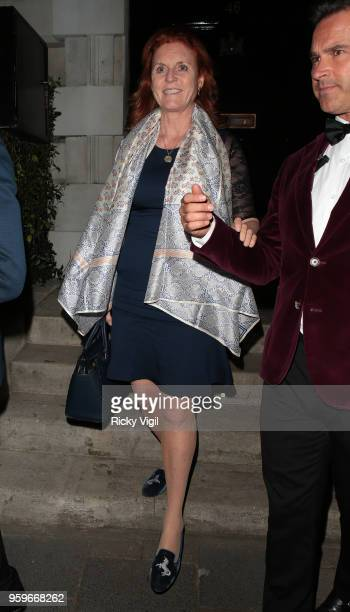 Sarah Duchess of York seen on a night out at Annabel's club in Mayfair on May 17 2018 in London England