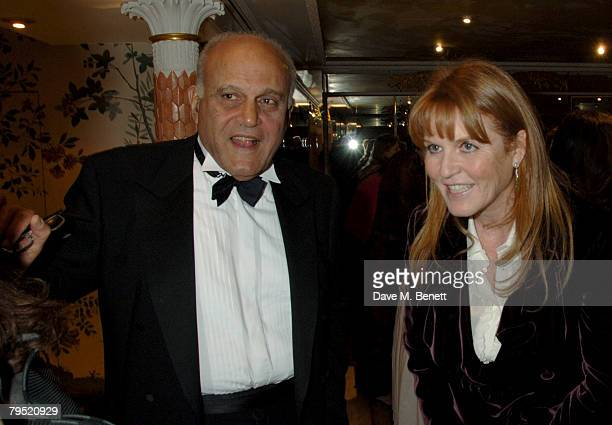 Sarah Duchess of York Sir Magdi Yacoub attend the Chain of Hope Annual Ball at the Dorchester Hotel on February 4 2008 in London England