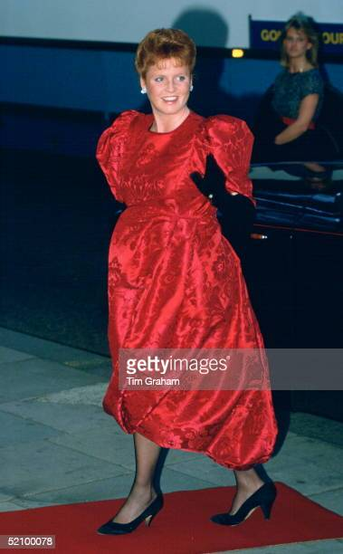 Sarah, Duchess Of York, Wearing A Puffball Dress While Pregnant With Her First Baby, Attending A Performance By The Ballet Rambert At Sadlers Wells...