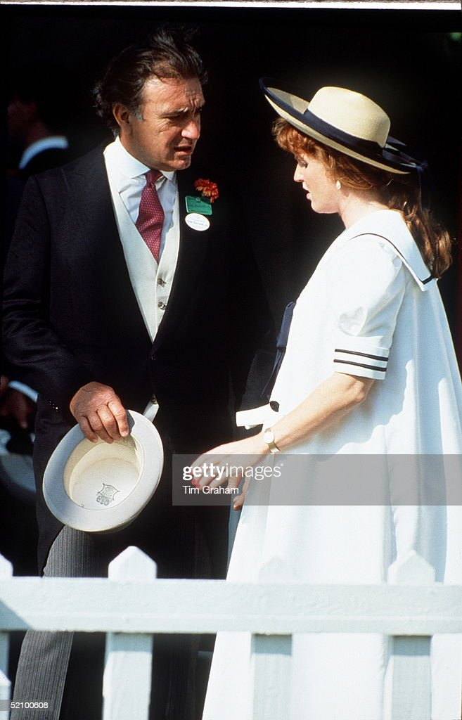 Sarah Duchess Of York With Her Step-father Hector Barrantes At Polo Windsor