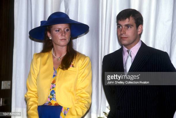 Sarah Duchess Of York With Prince Andrew Duke Of York Watching A Fashion Show At The Royal York Hotel In Ontario Canada 17th July 1987