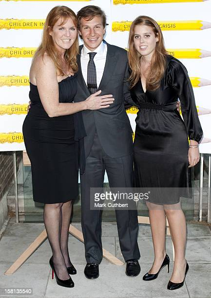 Sarah Duchess Of York With Princess Beatrice And Her Boyfriend Dave Clark At A Fundraising Dinner For Children In Crisis At The Foundling Museum In...