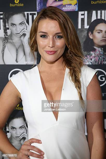 Sarah Dumont attends the Flaunt Magazine And AG Celebrate The LA launch Of The CALIFUK Issue At The Hollywood Roosevelt at Hollywood Roosevelt Hotel...