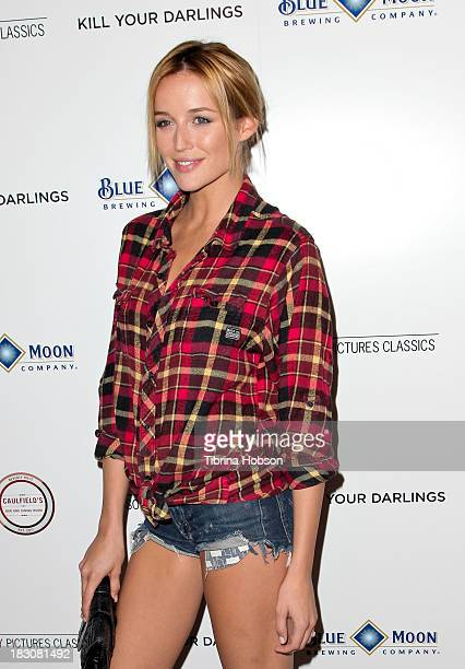 Sarah Dumont attends the 'Kill Your Darlings' Los Angeles premiere at Writers Guild Theater on October 3 2013 in Beverly Hills California