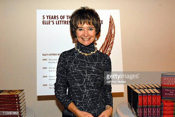 Sarah Dunant author and award winner during 5th Annual Elle Honors Elle's Lettres 2006 at 26 Helen Mills Theater in New York City New York United...