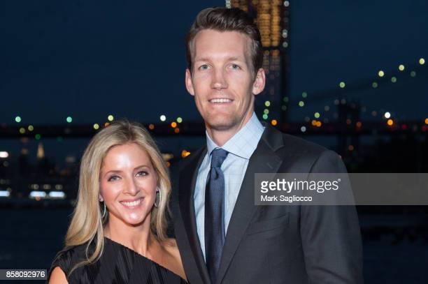 Sarah Dunleavy and NBA Player Mike Dunleavy attend the 2017 Brooklyn Bridge Park Conservancy Brooklyn Black Tie Ball at Pier 2 at Brooklyn Bridge...