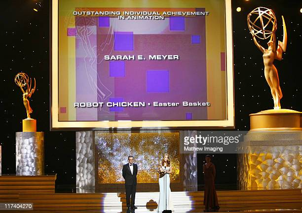 Sarah E Meyer winner Outstanding Individual Achievement in Animation for 'Robot Chicken Easter Basket'