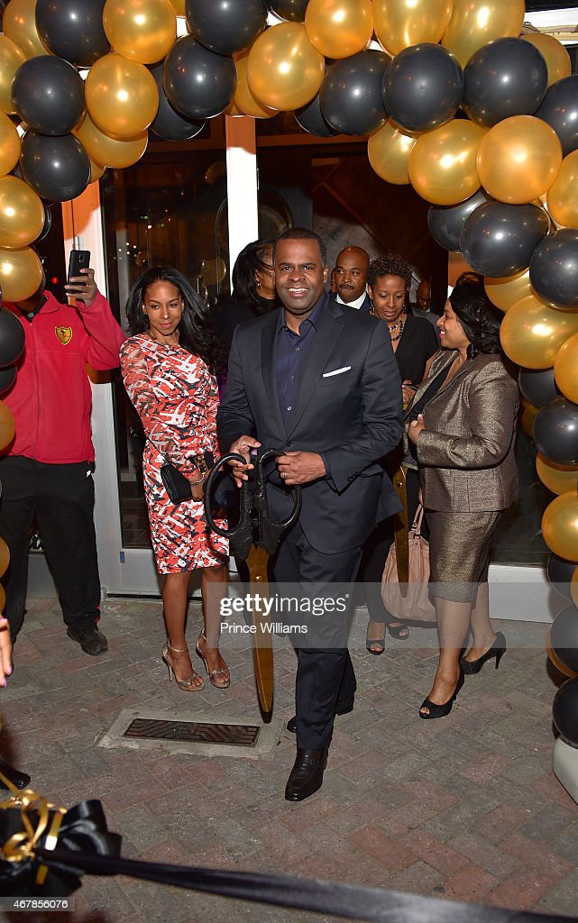 Sarah Elizabeth reed and Kasim Reed Attend 925 Scales ribbon Cutting Ceremony at 925 Scales on March 27, 2015 in Atlanta, Georgia.