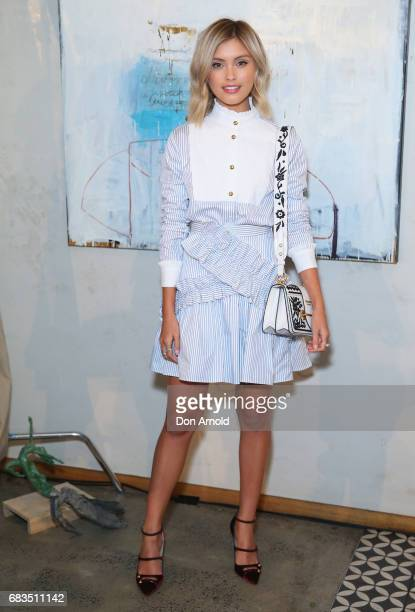 Sarah Ellen arrives ahead of the Acler X Myer lunch at No 1 Bent Street on May 16 2017 in Sydney Australia