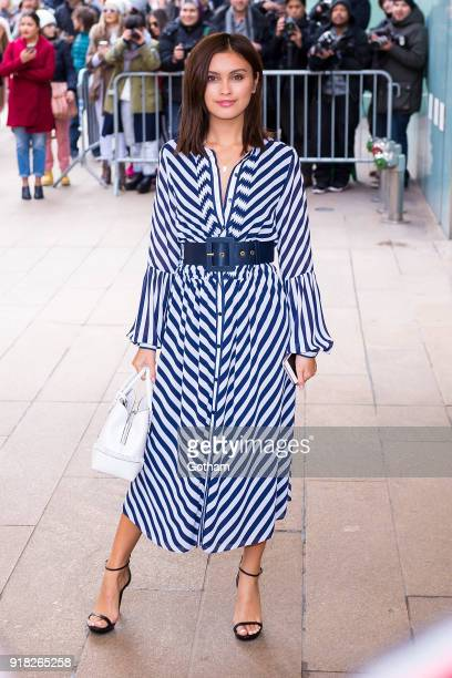 Sarah Ellen attends the Michael Kors fashion show during New York Fashion Week at the Vivian Beaumont Theater at Lincoln Center on February 14 2018...