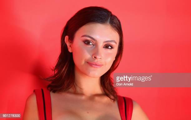 Sarah Ellen attends the Si Passione By Giorgio Armani Launch on March 13 2018 in Sydney Australia