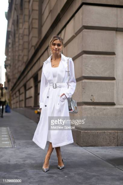 Sarah Ellen is seen on the street during New York Fashion Week AW19 wearing Michael Kors on February 13 2019 in New York City
